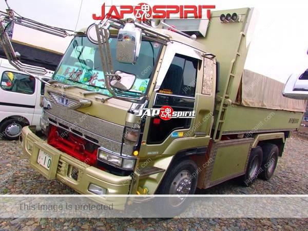 ISUZU GIGA Dump car, Dekotora style, DarkKhaki color (1)