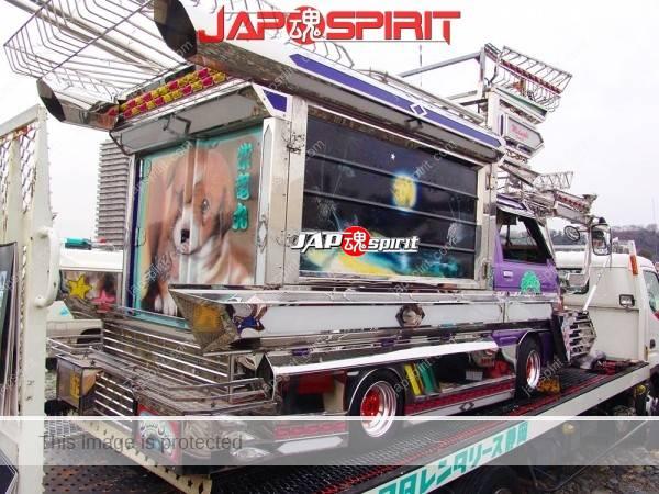 "DAIHATSU Hijet Mini truck, Extreme decoration art truck, too big visor & bumper with rocket ramp, ""Shiryumaru"" (2)"