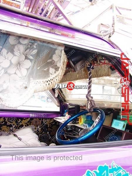 "DAIHATSU Hijet Mini truck, Extreme decoration art truck, too big visor & bumper with rocket ramp, ""Shiryumaru"" (3)"