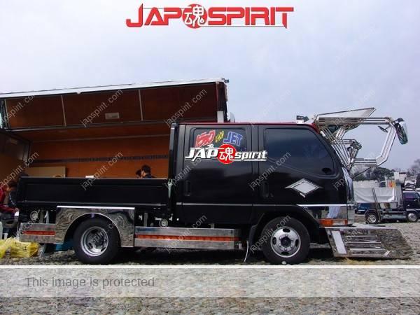 MISTUBISHI Canter dubble cab, flat body, black body Art truck, big visor & big bumper (1)