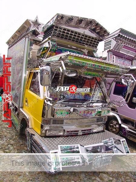 ISUZU Elf, Art truck, yellow cor Boxcar & purple color Dump truck, (2)