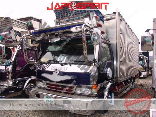 ISUZU Forword, Dekotora style with big visor, box car