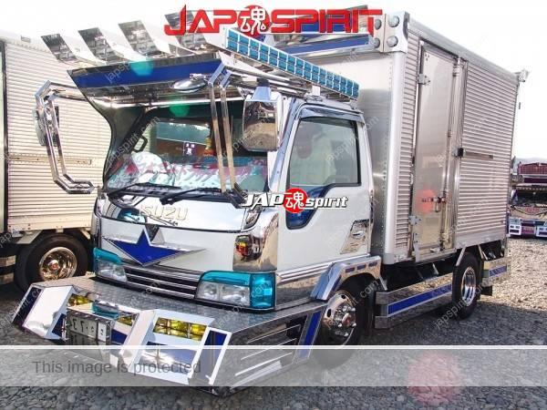 "ISUZU Elf, Art truck style, team ""Yakousendan"". Box car type. (1)"