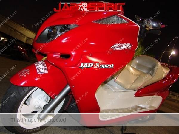 YAMAHA Majesty 2nd, red color and big muffler (3)