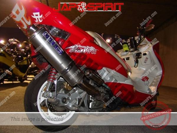 YAMAHA Majesty 2nd, red color and big muffler (2)