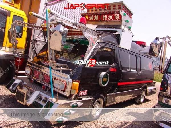 Photo of TOYOTA HIACE H100, Dekotora style with wide visor & big bumper & decoration