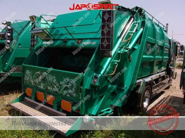 MITSUBISHI FUSO Canter, Art truck style garbage truck, emerald green body color (6)
