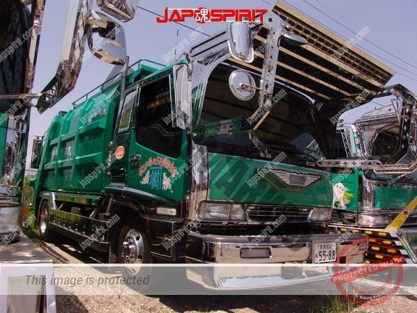 MITSUBISHI FUSO Canter, Art truck style garbage truck, emerald green body color (5)