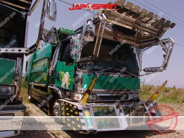 MITSUBISHI FUSO Canter, Art truck style garbage truck, emerald green body color (4)