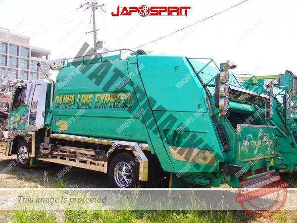 MITSUBISHI FUSO Canter, Art truck style garbage truck, emerald green body color (2)
