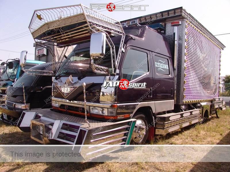Photo of MITSUBISHI FUSO Canter, dubble cab box car, art truck style, team Kashoukai. big visor & bumper