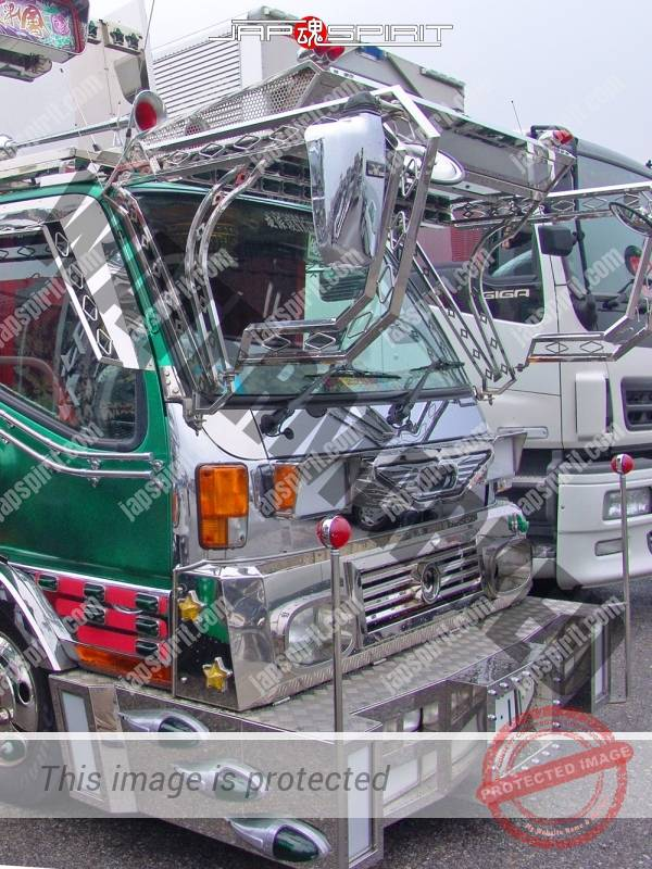 "MITSUBISHI FUSO Canter, art truck style, dump truck, team ""Kimagurekai"", Kabuki paint by delinquent driver (3)"