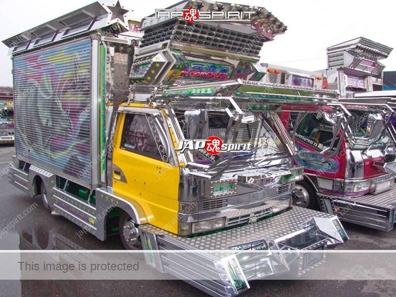 Denshokumaru of Geijutsu group, Isuzu elf art truck with Dinosaur air brush paint (5)