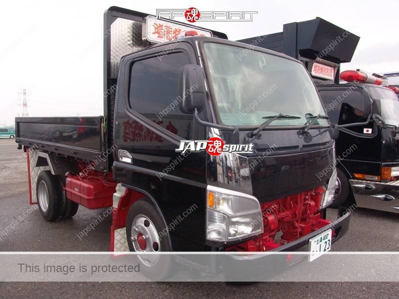 "MITSUBISHI FUSO canter art truck, maybe underconstruction, black, team ""Kurayamitokkyu sendan"" (2)"