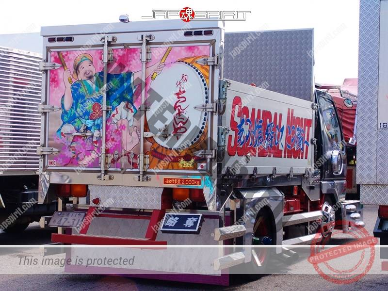 "MITSUBISHI FUSO Canter, Art truck, team ""Kurayami tokkyu sendan"", Chindonya with Suzukikougei paint (3)"