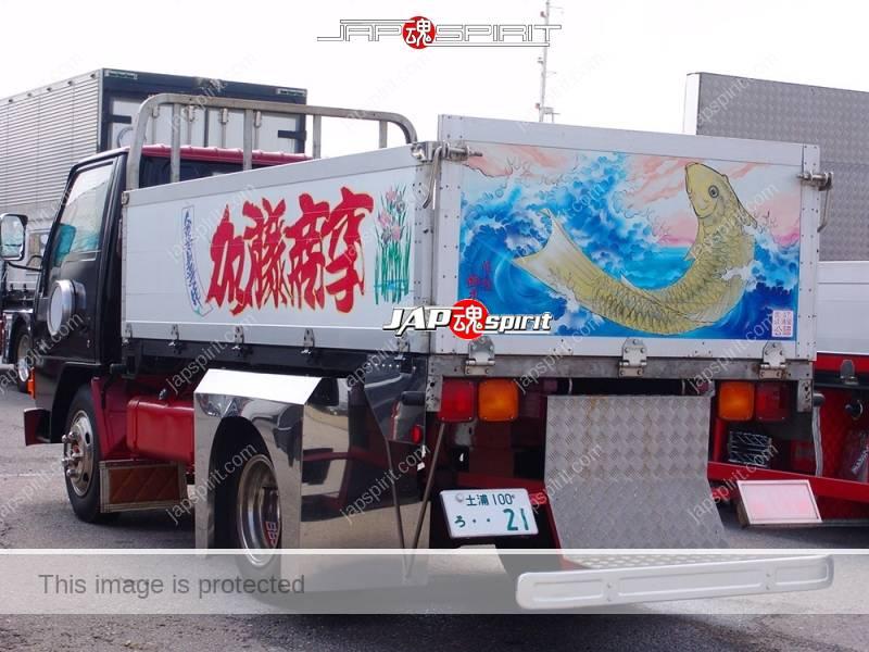 Photo of MITSUBISHI FUSO Canter, Art truck, Kurayamitokkyu sendan, Kato shoji, Suzukikougei airbrush paint, carp piture