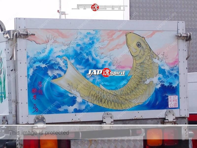 MITSUBISHI FUSO Canter, Art truck style, Suzukikougei airbrush paint, carp piture (2)
