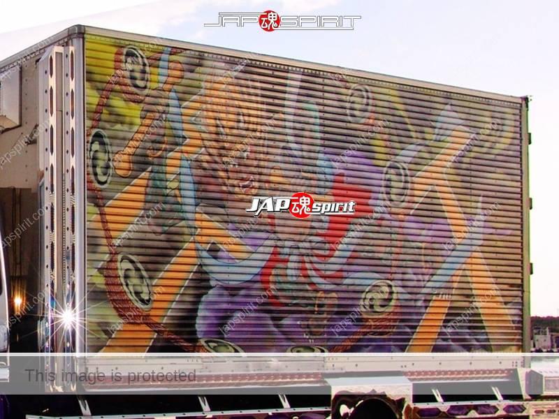 "HINO Ranger, Boxcar type, art truck, team ""Kanto Rangakai"", Monsieur maru, decorated by Pratia (2)"