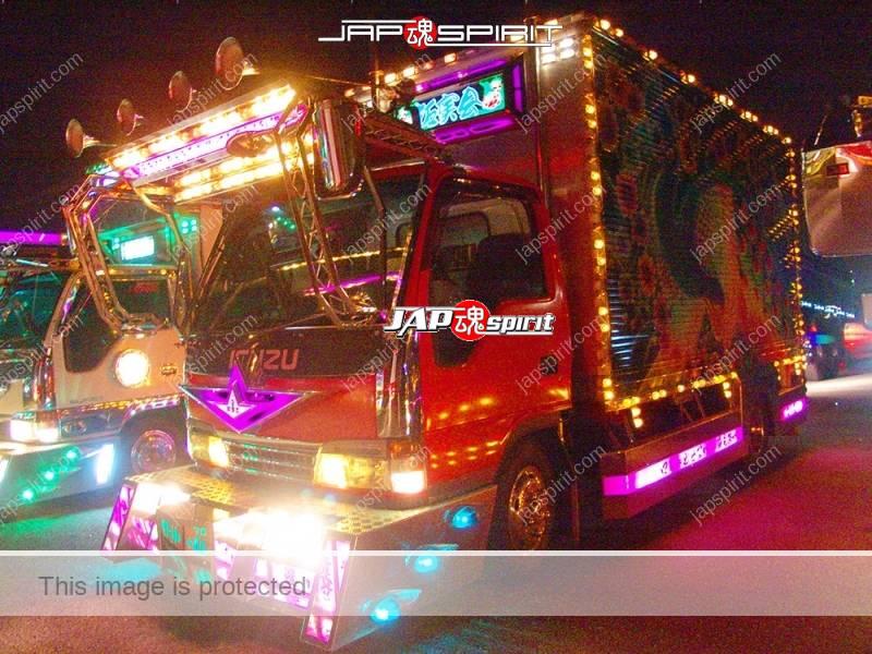 Takumimaru, Isuzu Elf, Art truck with phoenix air brush on the side (3)