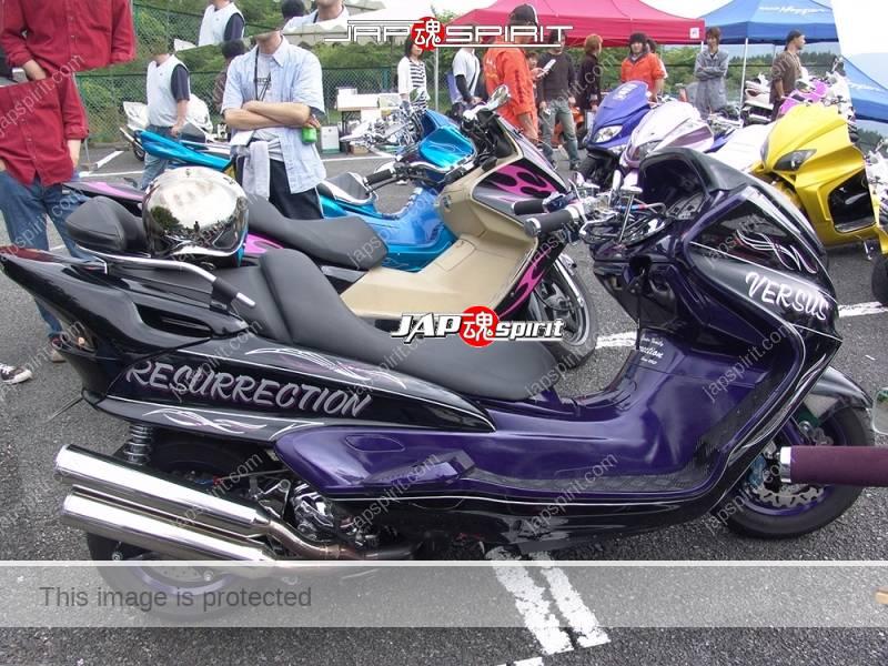 "YAMAHA Majesty, Blak color, purple inside color, team ""Resurrection"" customized by Vursus (2)"