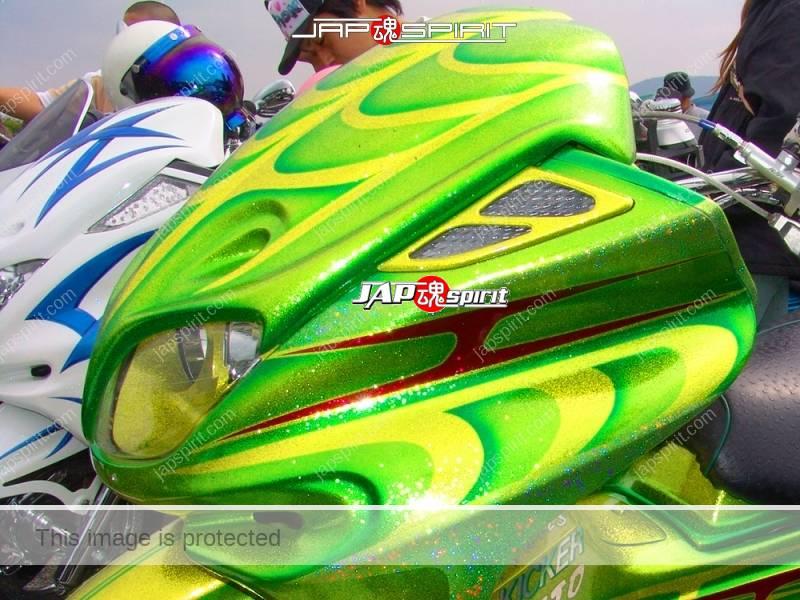 YAMAHA Majesty, Light Lame flake green with yellow line (1)