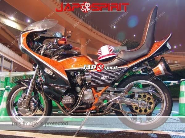 HONDA CBX400F, Zokusha style, Sandan sheet, Black & orange color, Rocket cowl (3)