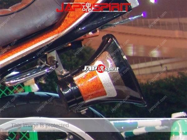 HONDA CBX400F, Zokusha style, Sandan sheet, Black & orange color, Rocket cowl (2)