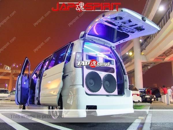 TOYOTA LITEACE NOAH, Big speaker &Room neon lgihting, Sotomuki style sound car (2)
