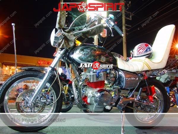 HONDA CB400T HAWK II, louis vuitton mongolian windscreen, Dragon tank air brush art, sandan sheet & korukuhan helmet (4)