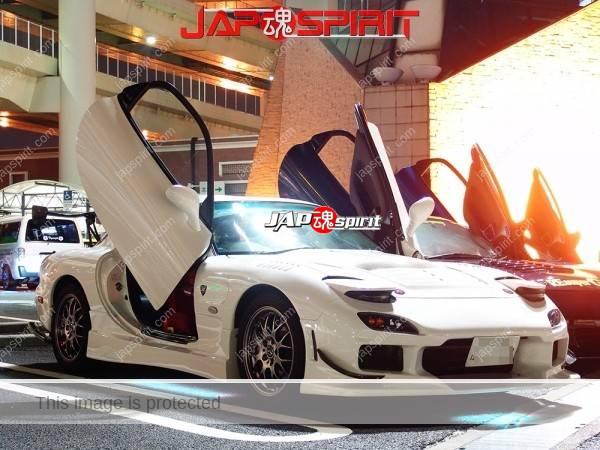 Photo of MAZDA RX7 FD, 4 different cars, Scissor door custom spokon style at Daikoku parking