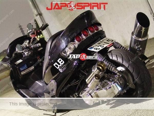 YAMAHA Majesty, long wheel base custom, black color (2)