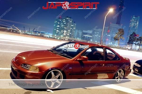 Photo of HONDA CIVIC EG Coupe, brown color USDM at Minatomirai