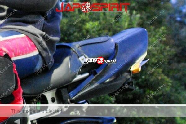 HONDA CBR, Hashiriya style bike, with Rider. Haneage rear fender, worn-out knee pad. (2)