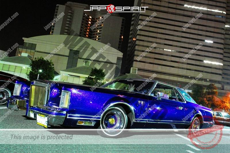 Lincoln Continental Mark VI Signature Series blue color with air brush paint team STYLISTICS (4)