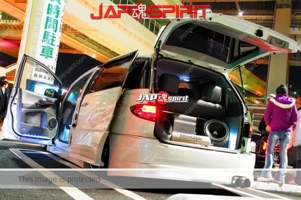 Photo of TOYOTA Estima 2nd, Sotomuki sound car, two small speaker, white color