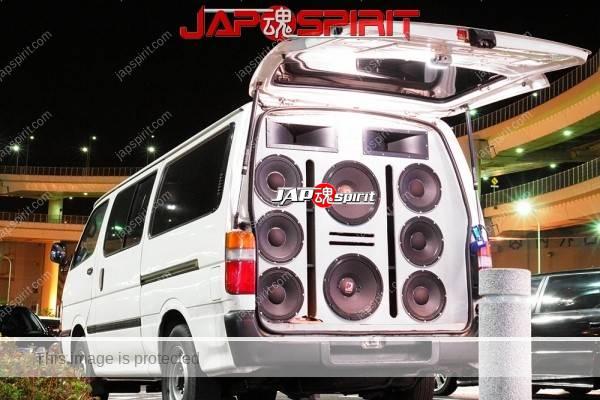TOYOTA HIACE x100, Sotomuki style sound car, Very good big speaker with DJ (5)