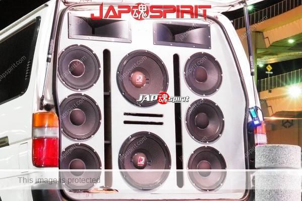 TOYOTA HIACE x100, Sotomuki style sound car, Very good big speaker with DJ (1)