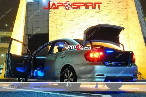TOYOTA PREMIO, Sotomuki sound car, blue lighting, silver color (1)
