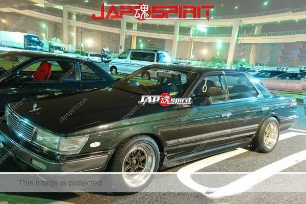 NISSAN Laurel C33, Street drift style, DarkOliveGreen color at Daikoku parking (1)