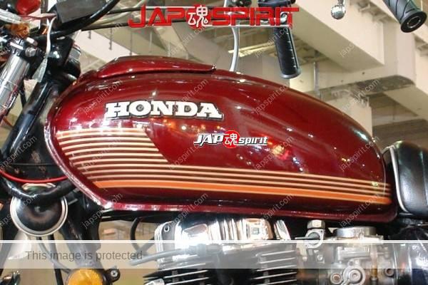 HONDA CB400T (Hawk II), classic design Brown color tank & up handle, black sandan sheet (1)