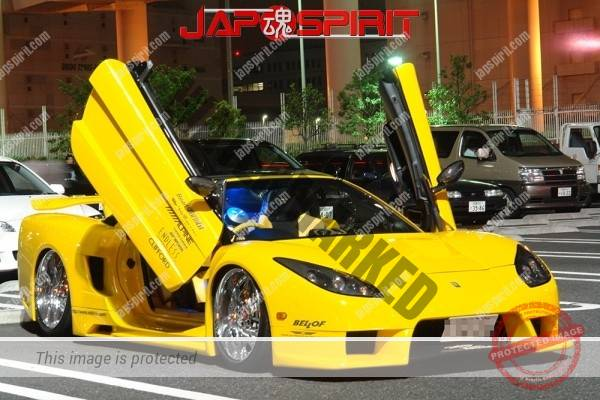 HONDA / ACURA NSX, Masterpiece tuning, metal plating wheel, Scissor door, blister fender, vivid yellow color (2)