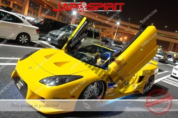 HONDA / ACURA NSX, Masterpiece tuning, metal plating wheel, Scissor door, blister fender, vivid yellow color (4)