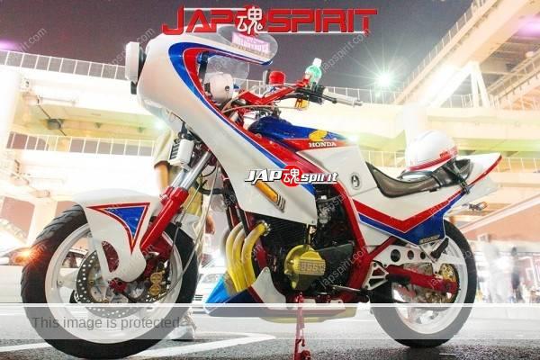 Photo of HONDA CBR400F, Gundum color desing's bousouzoku bike, Rocket cowl,