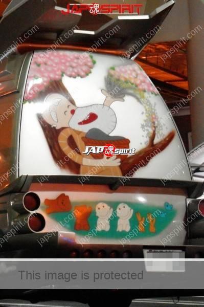 NISSAN Caravan 3rd, Vanning style with air brush, Manga Nippon mukashi banashi (Anime folktale from Japan) (4)