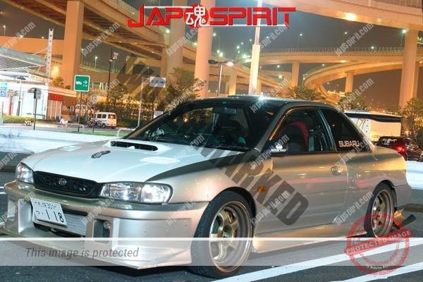 SUBARU IMPREZA WRX type RA STi, Hashiriya style, white bonnet, silver color