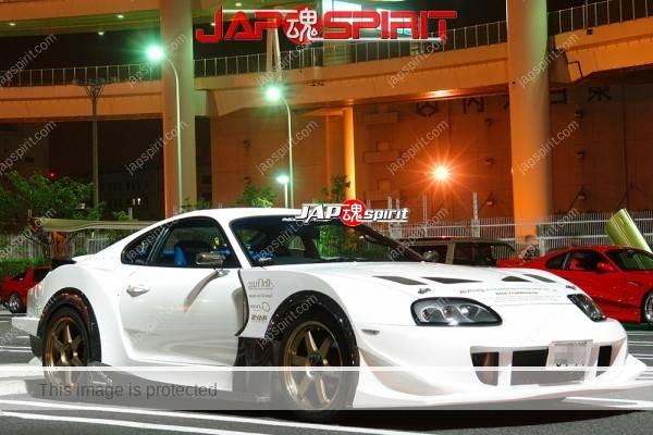 Photo of TOYOTA JZA80 Supra, ABFLUG GT-05 Body kit parts, like a GT racing supra, white color