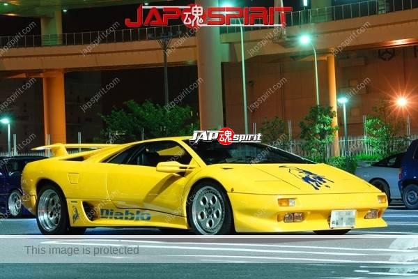 Lamborghini mid night party, Diablo & Murcielago, Beautiful lighting is very exciting & super cool! (20)