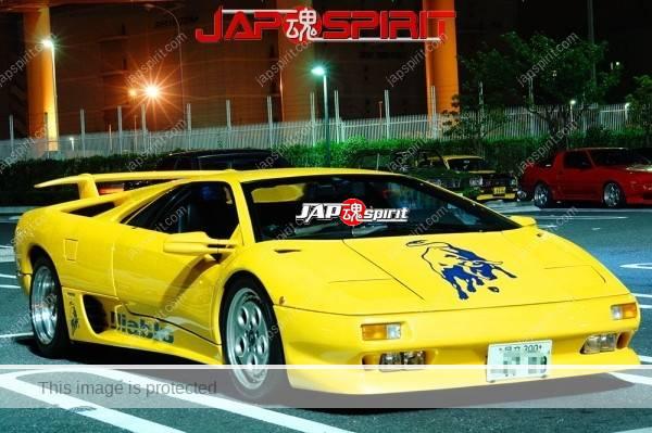 Lamborghini mid night party, Diablo & Murcielago, Beautiful lighting is very exciting & super cool! (19)