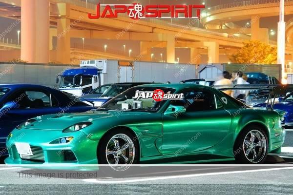 Photo of MAZDA TX7 FD Spokon style, beautiful metalic green color and good fender work