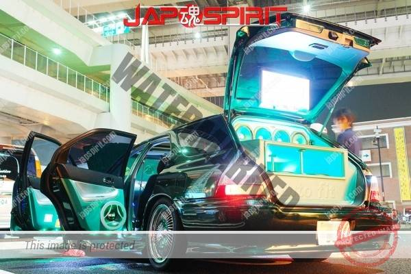 Photo of HONDA Accord wagon 1st CB, Sotomuki sound car, flare green, wire wheel, lighting